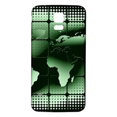 Matrix Earth Global International Samsung Galaxy S5 Back Case (white) by Nexatart