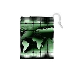 Matrix Earth Global International Drawstring Pouches (small)