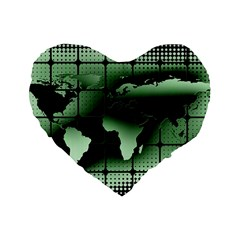 Matrix Earth Global International Standard 16  Premium Flano Heart Shape Cushions
