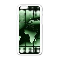 Matrix Earth Global International Apple Iphone 6/6s White Enamel Case by Nexatart