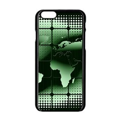 Matrix Earth Global International Apple Iphone 6/6s Black Enamel Case by Nexatart
