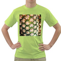 Pineapple Texture Macro Pattern Green T Shirt