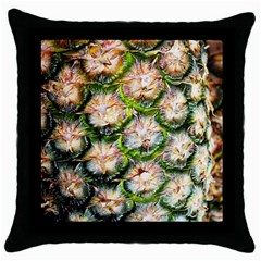 Pineapple Texture Macro Pattern Throw Pillow Case (black)