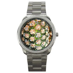 Pineapple Texture Macro Pattern Sport Metal Watch by Nexatart