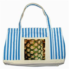 Pineapple Texture Macro Pattern Striped Blue Tote Bag