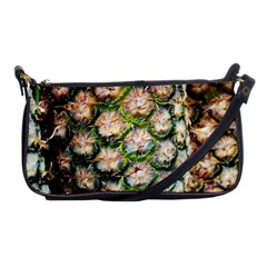 Pineapple Texture Macro Pattern Shoulder Clutch Bags by Nexatart