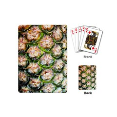 Pineapple Texture Macro Pattern Playing Cards (mini)