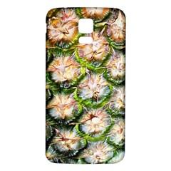 Pineapple Texture Macro Pattern Samsung Galaxy S5 Back Case (white) by Nexatart