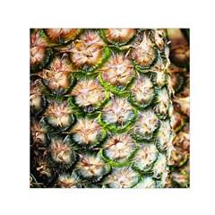 Pineapple Texture Macro Pattern Small Satin Scarf (square)