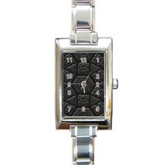 Tile Emboss Luxury Artwork Depth Rectangle Italian Charm Watch by Nexatart
