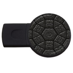 Tile Emboss Luxury Artwork Depth Usb Flash Drive Round (2 Gb)
