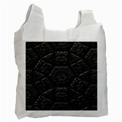Tile Emboss Luxury Artwork Depth Recycle Bag (one Side)