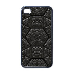 Tile Emboss Luxury Artwork Depth Apple Iphone 4 Case (black)
