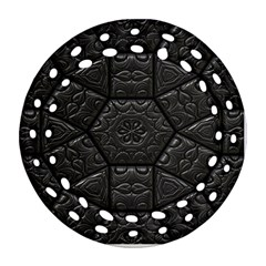 Tile Emboss Luxury Artwork Depth Ornament (round Filigree) by Nexatart