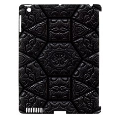 Tile Emboss Luxury Artwork Depth Apple Ipad 3/4 Hardshell Case (compatible With Smart Cover)