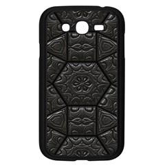 Tile Emboss Luxury Artwork Depth Samsung Galaxy Grand Duos I9082 Case (black)