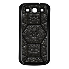 Tile Emboss Luxury Artwork Depth Samsung Galaxy S3 Back Case (black)