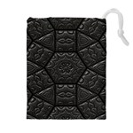 Tile Emboss Luxury Artwork Depth Drawstring Pouches (Extra Large) Front
