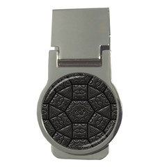 Tile Emboss Luxury Artwork Depth Money Clips (round)