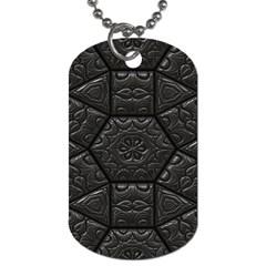 Tile Emboss Luxury Artwork Depth Dog Tag (two Sides)