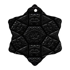 Tile Emboss Luxury Artwork Depth Ornament (snowflake)