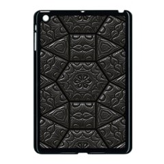 Tile Emboss Luxury Artwork Depth Apple Ipad Mini Case (black)