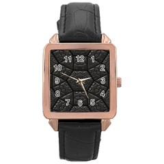 Tile Emboss Luxury Artwork Depth Rose Gold Leather Watch  by Nexatart