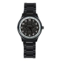 Tile Emboss Luxury Artwork Depth Stainless Steel Round Watch by Nexatart