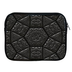 Tile Emboss Luxury Artwork Depth Apple Ipad 2/3/4 Zipper Cases