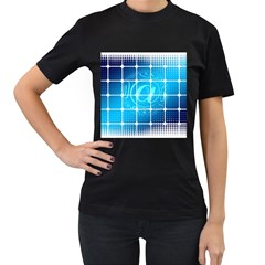 Tile Square Mail Email E Mail At Women s T Shirt (black) (two Sided)