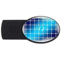 Tile Square Mail Email E Mail At Usb Flash Drive Oval (4 Gb)