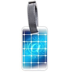Tile Square Mail Email E Mail At Luggage Tags (one Side)  by Nexatart