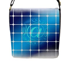 Tile Square Mail Email E Mail At Flap Messenger Bag (l)  by Nexatart