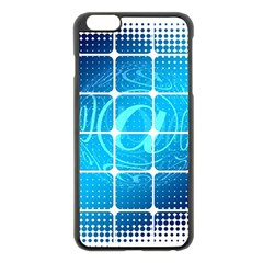 Tile Square Mail Email E Mail At Apple Iphone 6 Plus/6s Plus Black Enamel Case
