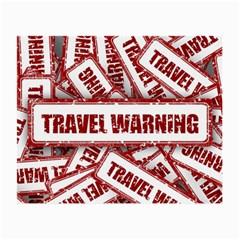 Travel Warning Shield Stamp Small Glasses Cloth