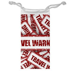 Travel Warning Shield Stamp Jewelry Bag by Nexatart