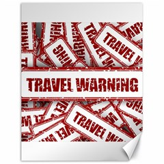 Travel Warning Shield Stamp Canvas 18  X 24   by Nexatart