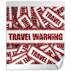 Travel Warning Shield Stamp Canvas 20  X 24   by Nexatart