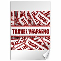 Travel Warning Shield Stamp Canvas 20  X 30   by Nexatart