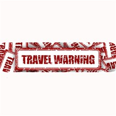 Travel Warning Shield Stamp Large Bar Mats by Nexatart