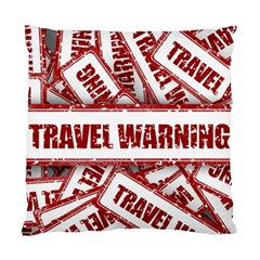 Travel Warning Shield Stamp Standard Cushion Case (one Side)