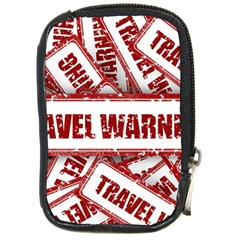 Travel Warning Shield Stamp Compact Camera Cases by Nexatart