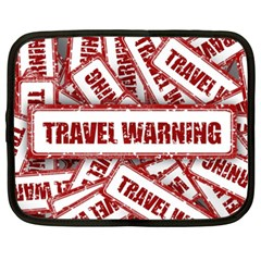 Travel Warning Shield Stamp Netbook Case (xxl)  by Nexatart