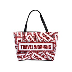 Travel Warning Shield Stamp Shoulder Handbags