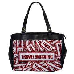 Travel Warning Shield Stamp Office Handbags by Nexatart