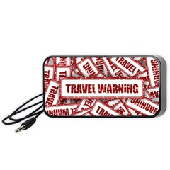 Travel Warning Shield Stamp Portable Speaker (black)