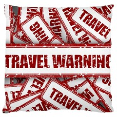 Travel Warning Shield Stamp Large Cushion Case (two Sides)