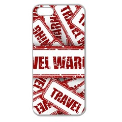 Travel Warning Shield Stamp Apple Seamless Iphone 5 Case (clear)