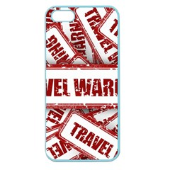 Travel Warning Shield Stamp Apple Seamless Iphone 5 Case (color) by Nexatart