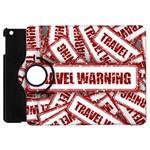 Travel Warning Shield Stamp Apple iPad Mini Flip 360 Case Front